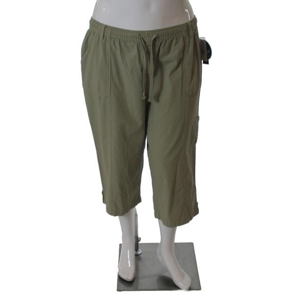 53044c0aa1c Karen Scott Plus Size Comfort Waist Pull On Capris